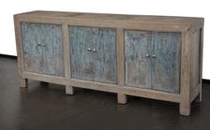 Antique large sideboard cabinet media console MA091