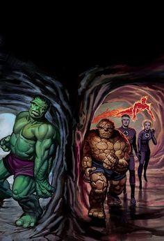 The Fantastic Four vs The Hulk