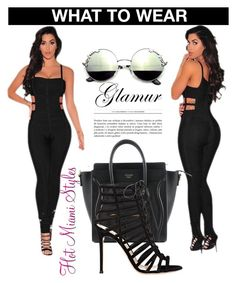 """""""HOT ITEM x BANDAGE JUMPSUIT"""" by dopegeezy ❤ liked on Polyvore featuring Gianvito Rossi"""