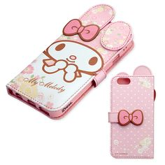 My Melody Bifold iPhone 6 Soft Case Cover w/ Card Pocket & Mirror SANRIO JAPAN