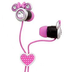 Minnie Mouse Ear Buds. On the fence, not a fan of ear buds. So cute, but for an older child, 8+.