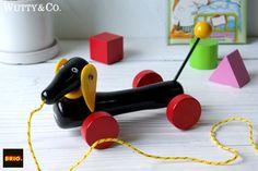 BRIOプルトイダックスフントダッチーS木製北欧おもちゃty35 Scandinavian toys ¥1260円 〆03月25日