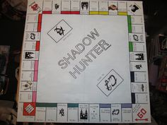 Shadowhunter Monopoly! <3 I can't believe someone actually made this!!<<<<<all I want to know is where to buy it