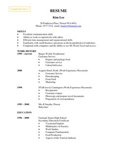 cashier resume format examples httpwwwjobresumewebsitecashier - Sample Of Resume Format