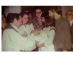 Batizado  André: Padre Chiquinho , Marilia e  Fernando Tozzi , eu , Luiz e o bisavô  Nico Bolognini