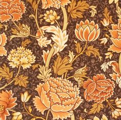 VINTAGE 1960's William Morris Design printed fabric.