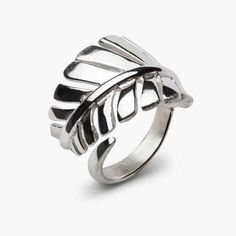 Sterling Silver Leaf Wrap Ring by PAZ COLLECTIVE