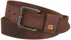 Lee Small Logo Men's Belt Dark Brown Small: Amazon.co.uk: Clothing
