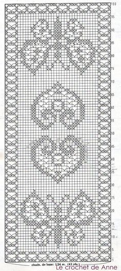 Filet crochet chart for a rose Filet Crochet Charts, Crochet Motifs, Crochet Squares, Thread Crochet, Crochet Doilies, Crochet Stitches, Doily Patterns, Cross Stitch Patterns, Crochet Patterns
