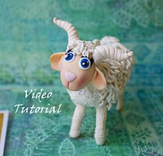 goat video tutorial polymer clay big figure of a goat by O1impia