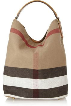 080c6b7b33f3 Burberry Susanna Checked Canvas Hobo Bag - yes please!