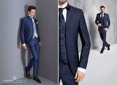 Blau für den Bräutigam - stylish blue suit for the groom #wedding #groom