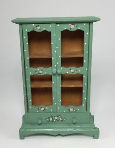 Trend Painted Doll Painted Roses Hand Painted Furniture Hutch Dollhouse Furniture Cupboard Hand Folk Bauernm bel Kuhn Dollhouse Dora Kuhn