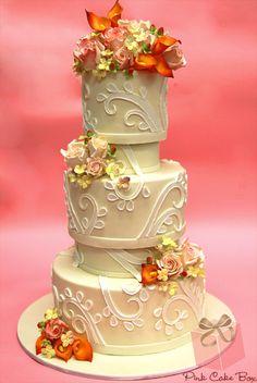 Indian Weddings Inspirations. Ivory Wedding Cake. Repinned by #indianweddingsmag indianweddingsmag.com