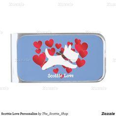Scottie Love Personalize Silver Finish Money Clip