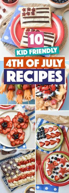 Fun July 4th Kid Recipes