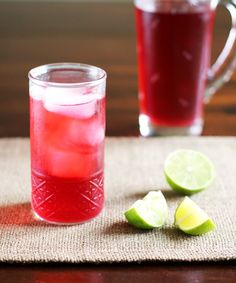 Drink Recipe:  Cold Brewed Jamaica - Hibiscus Iced Tea