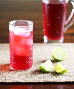 Cold Brewed Jamaica (Hibiscus Iced Tea)