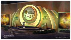 Proposed Set Design for Singapore Business Excellence Awards 2012 - by Joseph Victor Taguinod Tv Set Design, Stage Set Design, Pop Design, Altar Design, Church Design, Stage Backdrop Design, Singapore Business, Concert Stage Design, Corporate Event Design