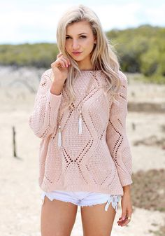 palest blush knit