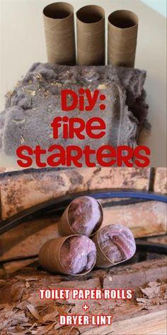 Utiliser des rouleaux de papier de toilettes et de la mousse de sécheuse pour partir un feu