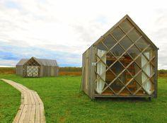 Bunkhouses inNikola-Lenivets, Russia. Contributed byAlex Bunten.