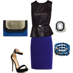 Black and Blue by jessica-shoelover on Polyvore #styleitfab