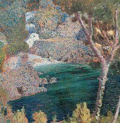 Rubaldo Merello(Italian, 1872-1922) La Scogliera 1906 oil on canvas