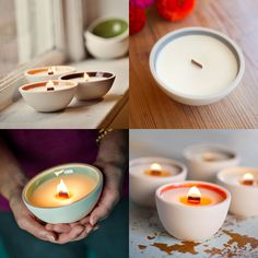 Wooden wick candles - crackle like the fire....for those who long for a fireplace