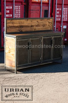 Prohibition Buffet Table by Urban Wood & Steel on Etsy and urbanwoodandsteel.com