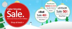 """CYBER MONDAY SALES at BlindSaver.com - BOGO on BlindSaver collection products with coupon code """"BOGO"""" to first 100 customers, plus 40% off Bali and 50% off Levolor! 