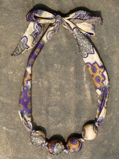 Another of my upcycled Italian silk necktie necklaces. Check it out on Etsy!