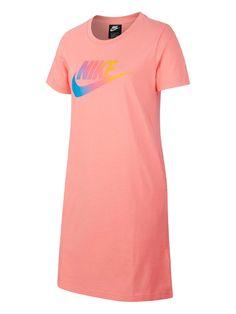 Nike Sportswear Girls Futura Femme T-Shirt Dress - Pink, Pink, Size - Pink - Years Nikes Girl, Sporty Girls, Nike Sportswear, Baby Wearing, Shirt Dress, T Shirt, Kids Girls, Pink Dress, Dresser
