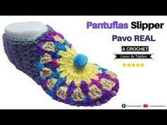 🌈 Pantuflas Babuchas a Crochet Pavo Real en Forma Circular ✅ Tejidos Fáciles a Crochet - YouTube Forma Circular, Crochet Hats, Slippers, Youtube, Ideas Para, Socks, Facebook, Videos, How To Knit