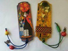El Rinconcito de Zivi: Marcapaginas de madera decorados con decoupage