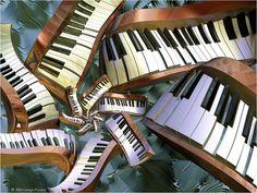 Abstract Art Music Piano (id: 77264) - BUZZERG