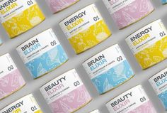 Heyday elixir packaging by TumanHeyday is a line of three different tonic herbal supplements made with plants and food extracts. The design of the packaging was developed by Tuman Studio, a russian. Jar Labels, Bottle Labels, Book Design, Web Design, Graphic Design, Beauty Elixir, Design Research, Pretty Packaging, Environmental Design