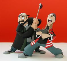 graphitti designs clerks inaction figures: jay & silent bob (date unknown) by j_pidgeon, via Flickr