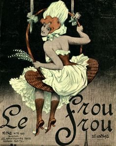 Le Frou Frou 'Girl in Basket Swing' cover by Ernst Ludwig Kirchner, 1907