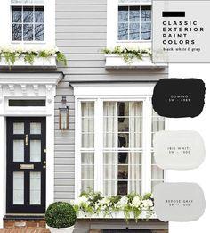 Exterior Window India - Grey Exterior Door - Tiny Bungalow Exterior - Cheap Exterior Door - - Exterior Paint Before And After Exterior Gris, Exterior Gray Paint, Exterior Paint Colors For House, Paint Colors For Home, Exterior Design, Gray Exterior Houses, Outside House Paint Colors, Exterior Paint Schemes, Stucco Exterior