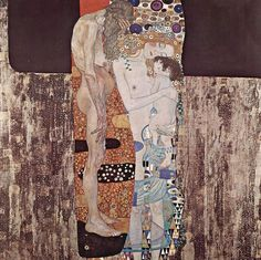 The Three Ages of Woman, 1905 by Gustav Klimt.    For the longest time I was attracted to the obviously loving duo of the mother and child, but I have come to appreciate the old woman too.