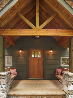 Entry to a Lindal Cedar Home More