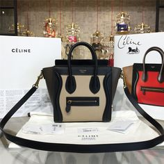 product code # 8572811 100% Genuine Leather Matching Quality of Original Celine Production (imported from Europe) Comes with dust bag, authentication cards, box, shopping bag and pamphlets. Receipts are only included upon request. Counter Quality Replica (True Mirror Image Replica) Dimensions: 19.5cm x 7.5cmx 20cm (Length x Height x Width) Our Guarantee: The handbag you...READ MORE