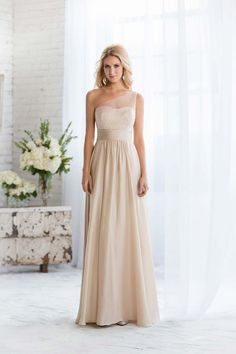Champagne bridesmaid dress from Belsoie