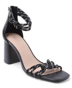 Bcbgeneration Telila Ankle Strap Sandal In Black Dress And Heels, Dress Sandals, Ankle Strap Sandals, Black Shoes, Women's Shoes, Bcbgeneration, Black Faux Leather, Block Heels, Luxury Fashion