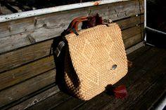 Straw handbag purse, big woven straw handbag, straw top handle bag, vintage natural woven bag, woven top handle bag, beach bag, boho bag
