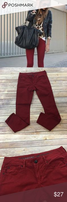 """Articles of Society Burgundy Skinny Jeans Articles of Society Burgundy Skinny Jeans. This brand is sold at Nordstrom. Front rise 8"""" back rise 10""""/ inseam 30"""". Articles of Society  Jeans Skinny"""
