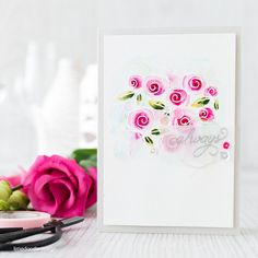 Watercolored roses with Debby Hughes. Find out more by clicking the following link: http://limedoodledesign.com/2016/01/watercolored-roses/