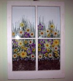 Great reuse of an old window--if only I had one bit of artistic talent