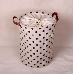 dot design fabric storage basket with clock cloth ,laundry basket
